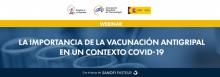 """Webinar """"La importancia de la vacunación antigripal en un contexto COVID-19"""""""
